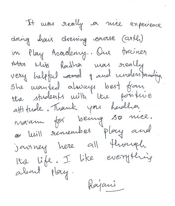 rajani-feedback-play-academy-hairdressing-courses