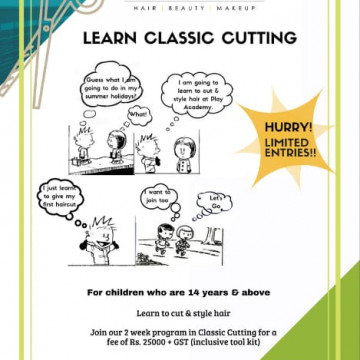 Classing Hair cutting workshop for kids